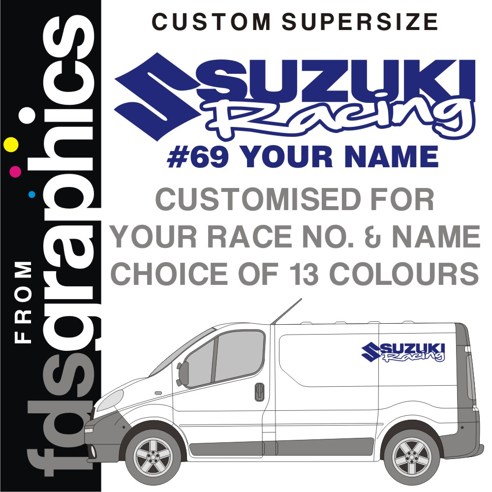 Personnalise paire d espace 1m suzuki racing van