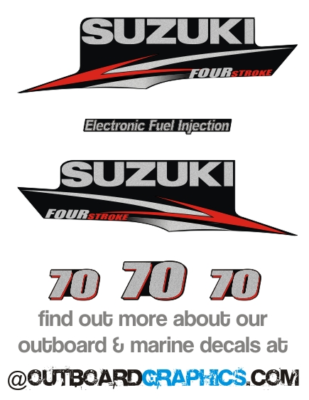 Details about Suzuki DF70 four stroke outboard engine decals/sticker kit