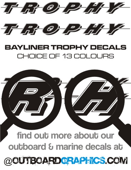 Details about Pair of 6ft long Bayliner Trophy sticker/decals